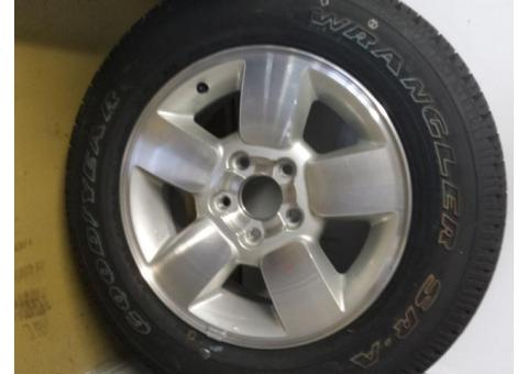 Tire and rim-new